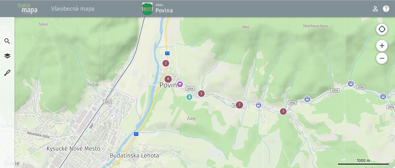 Mapový portál po načítaní