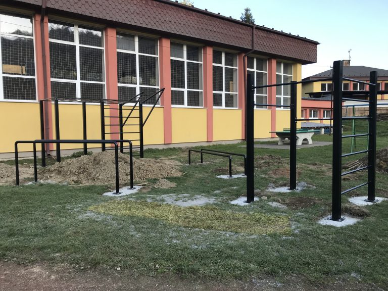 V Povine vybudovali workoutové ihrisko.