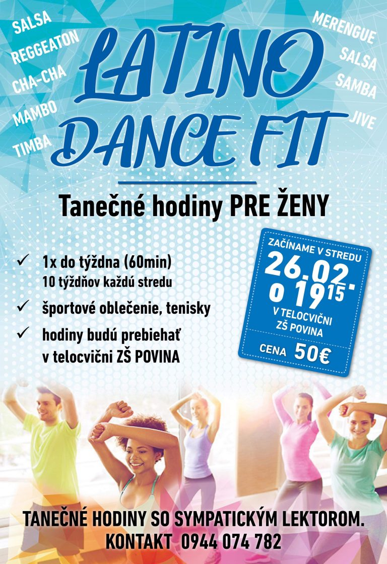 Latino dance fit v Povine