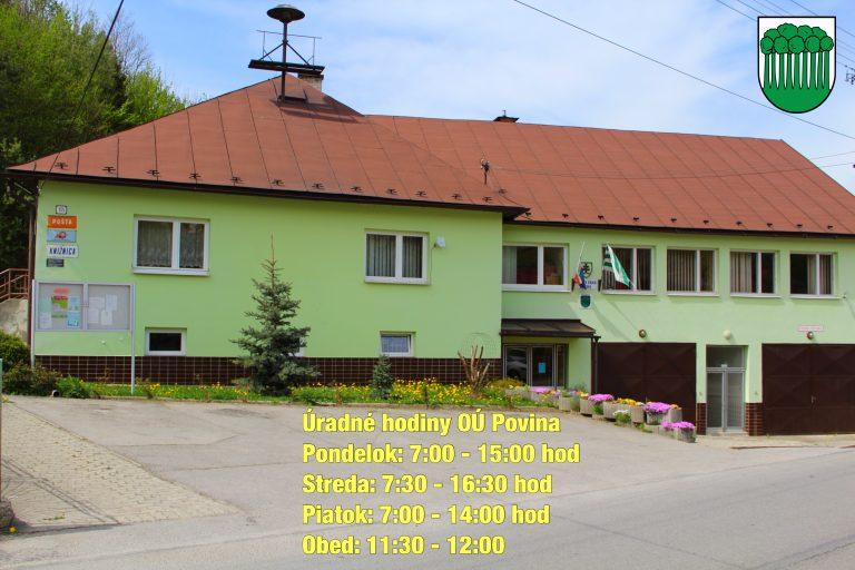 Zmena úradných hodín obecného úradu Povina