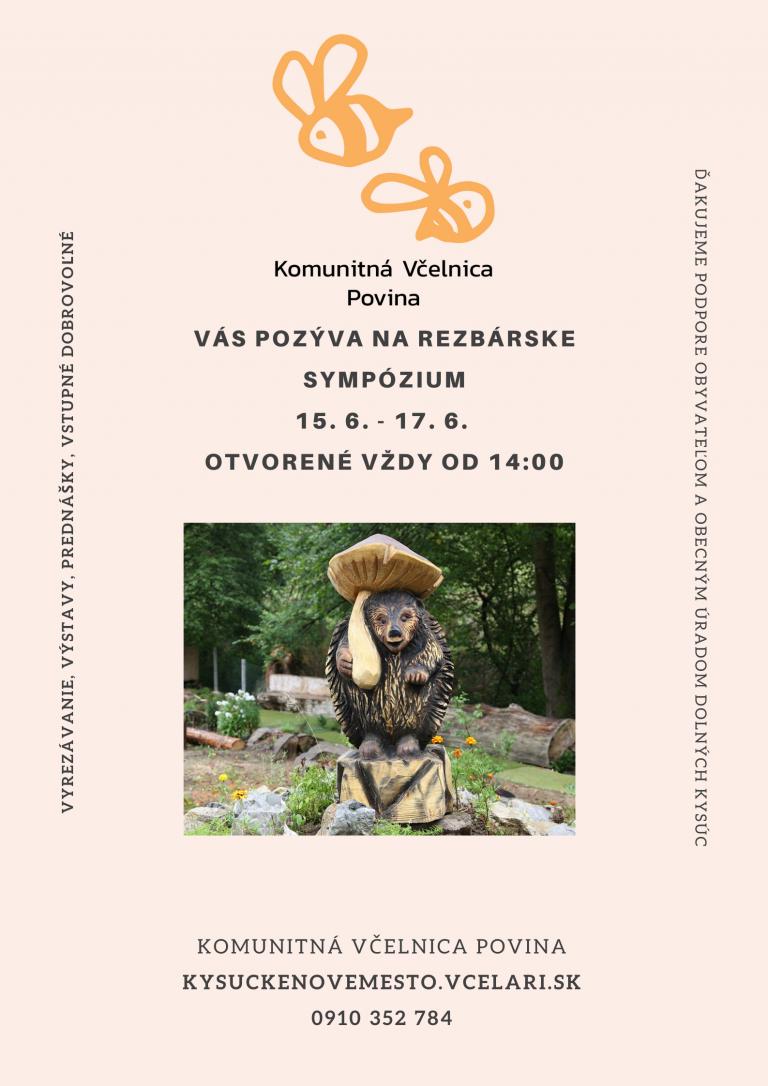 Rezbárske sympózium vo včelnici v Povine
